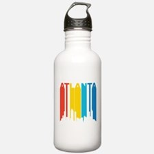 Retro Atlanta Skyline Water Bottle