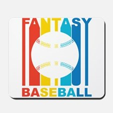 Retro Fantasy Baseball Mousepad