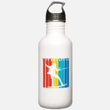 Retro Wakeboard Water Bottle