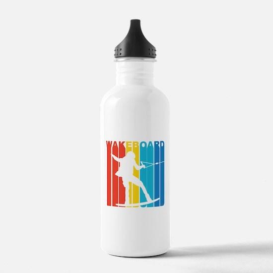 Retro Wakeboard Water Bottle