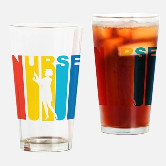 Retro Nurse Drinking Glass