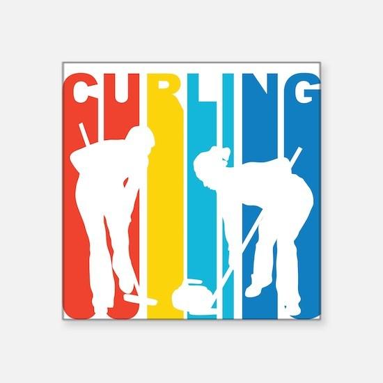 Retro Curling Sticker