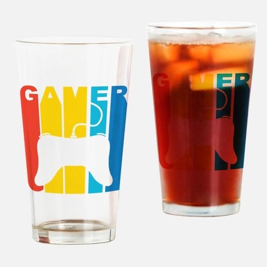 Retro Gamer Drinking Glass