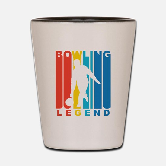 Retro Bowling Legend Shot Glass