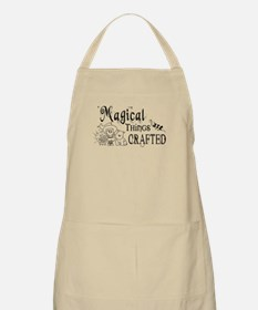 Magical Things Are Crafted Apron