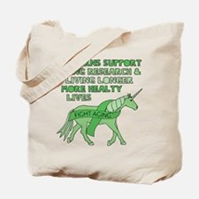 Unicorns Support Ageing Research & Living Tote Bag