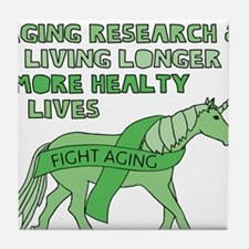 Unicorns Support Ageing Research & Li Tile Coaster