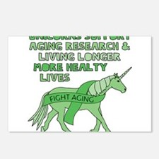 Unicorns Support Ageing R Postcards (Package of 8)
