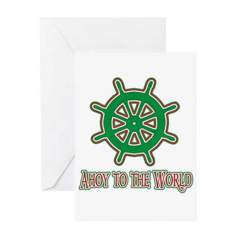 Ahoy To The World Greeting Card