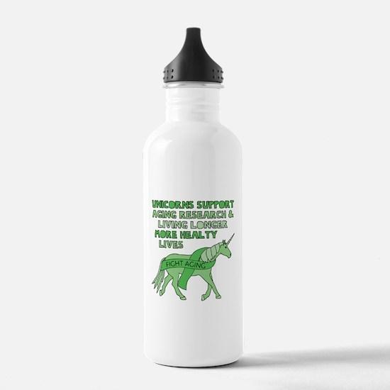 Unicorns Support Agein Water Bottle