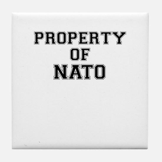 Property of NATO Tile Coaster