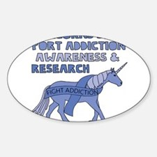 Unicorns Support Addiction Awareness Decal