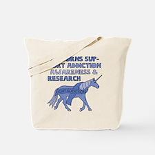 Unicorns Support Addiction Awareness Tote Bag