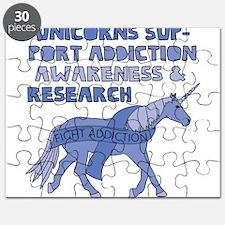 Unicorns Support Addiction Awareness Puzzle