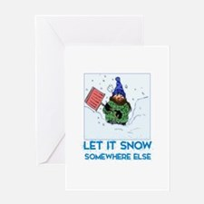 Unique Snow shoveling Greeting Card