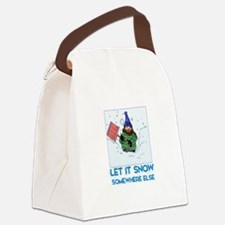 Cute Snow shoveling Canvas Lunch Bag