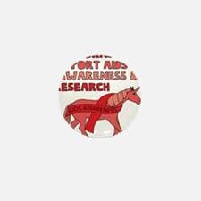 Unicorns Support Aids Awareness & Rese Mini Button