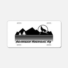 Adirondack Mountains NY Aluminum License Plate