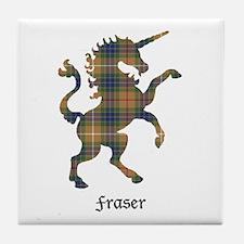 Unicorn-Fraser hunting Tile Coaster