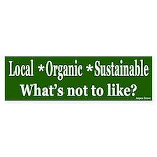 Local Organic Sustainable Bumper Bumper Sticker