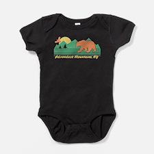 Adirondack Mountains NY Baby Bodysuit