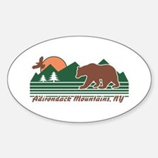 Adirondack Mountains NY Sticker (Oval)