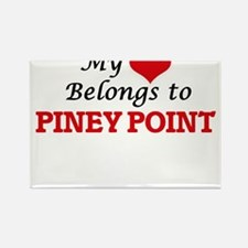 My Heart Belongs to Piney Point Massachuse Magnets
