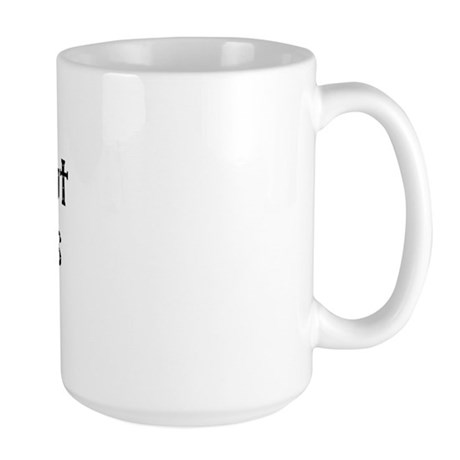 I can't put my arms down! Large Mug