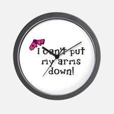I can't put my arms down! Wall Clock