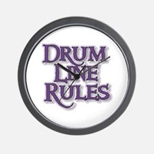 Drum Line Rules Wall Clock