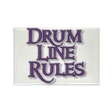 Drum Line Rules Rectangle Magnet