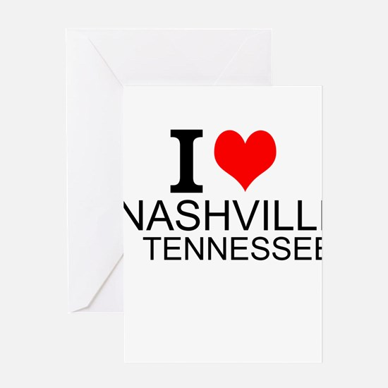 I Love Nashville, Tennessee Greeting Cards