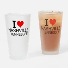 I Love Nashville, Tennessee Drinking Glass