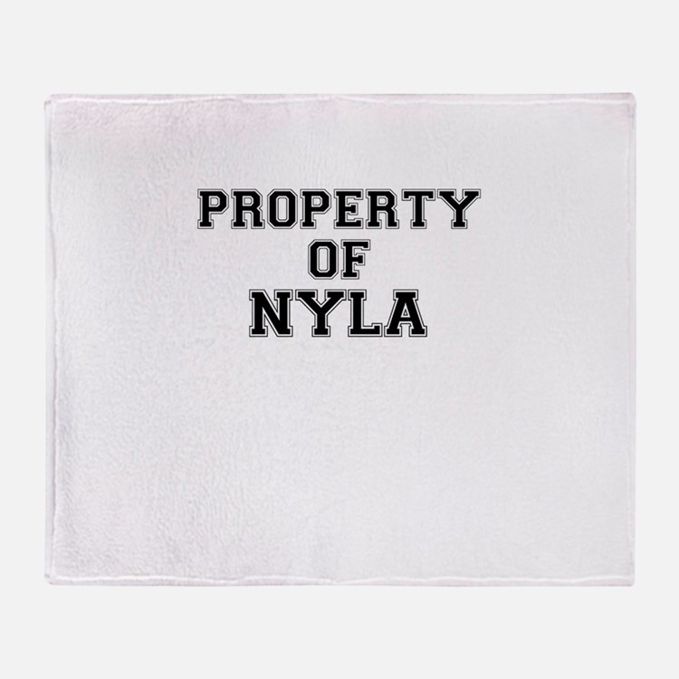 Property of NYLA Throw Blanket