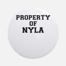 Property of NYLA Round Ornament
