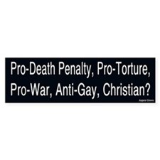 Pro War Christian Bumper Bumper Sticker