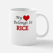 My Heart Belongs to Rice Massachusetts Mugs
