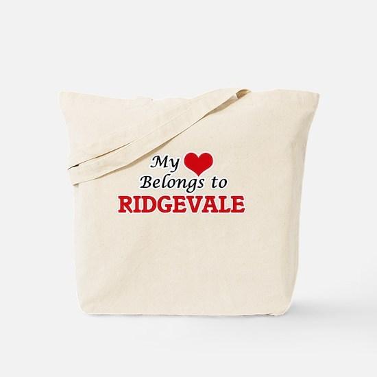 My Heart Belongs to Ridgevale Massachuset Tote Bag