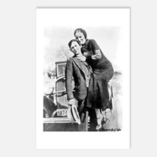 Bonnie and Clyde Postcards (Package of 8)