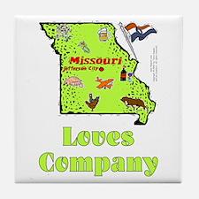 MO-Loves! Tile Coaster