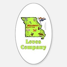 MO-Loves! Oval Decal