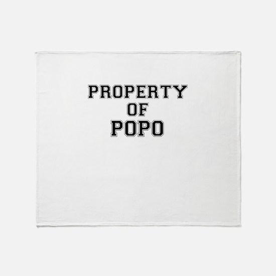 Property of POPO Throw Blanket