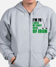 70 Daily Dose Of Iron Zip Hoodie