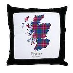 Map - Fraser of Lovat Throw Pillow