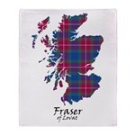Map - Fraser of Lovat Throw Blanket