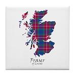 Map - Fraser of Lovat Tile Coaster