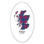 Map - Fraser of Lovat Sticker (Oval 10 pk)