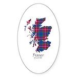 Map - Fraser of Lovat Sticker (Oval 50 pk)