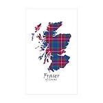Map - Fraser of Lovat Sticker (Rectangle 10 pk)