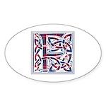 Monogram - Fraser of Lovat Sticker (Oval)